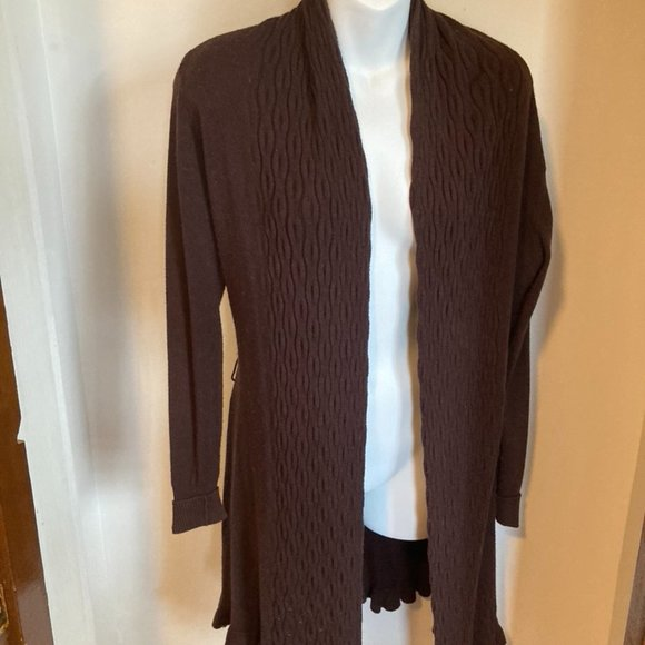 Cashmere duster sweater